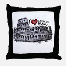 I love Rome  Throw Pillow