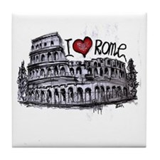 I love Rome  Tile Coaster