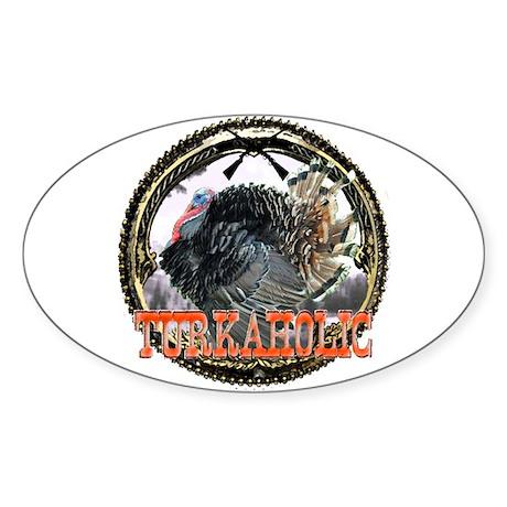 Turkaholic Oval Sticker