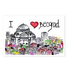 I love Beograd Postcards (Package of 8)