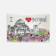 I love Beograd Rectangle Magnet