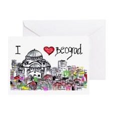 I love Beograd Greeting Card