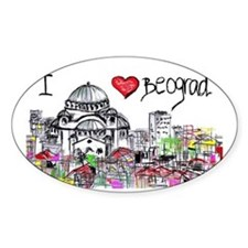 I love Beograd Decal