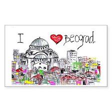I love Beograd Decal
