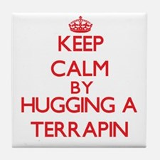 Keep calm by hugging a Terrapin Tile Coaster