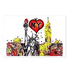 I love NY Postcards (Package of 8)