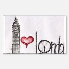 I love London Sticker (Rectangle)