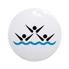 Synchronized swimming icon Ornament (Round)