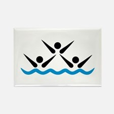 Synchronized swimming icon Rectangle Magnet