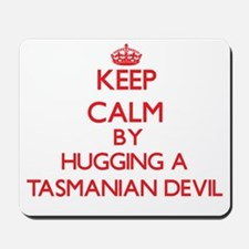 Keep calm by hugging a Tasmanian Devil Mousepad
