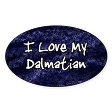 Funky Love Dalmatian Oval Decal