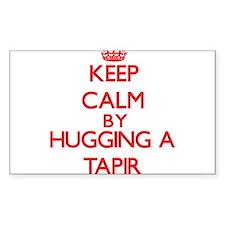 Keep calm by hugging a Tapir Decal