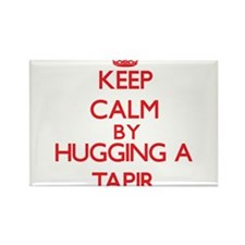 Keep calm by hugging a Tapir Magnets