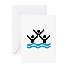 Synchronized swimming logo Greeting Card