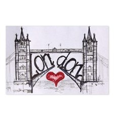 London with love Postcards (Package of 8)