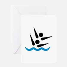 Synchronized swimmer Greeting Card