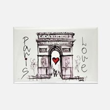 Paris with love  Rectangle Magnet
