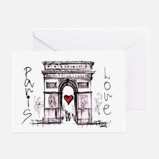 Paris with love  Greeting Card