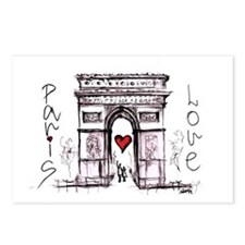 Paris with love  Postcards (Package of 8)