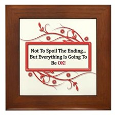 Everything Will Be OK Quote Framed Tile