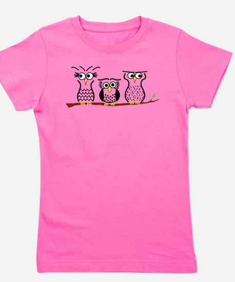 Three Little Owls Girl's Tee