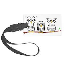 Three Little Owls Luggage Tag