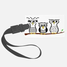 Three Little Owls Luggage Tag