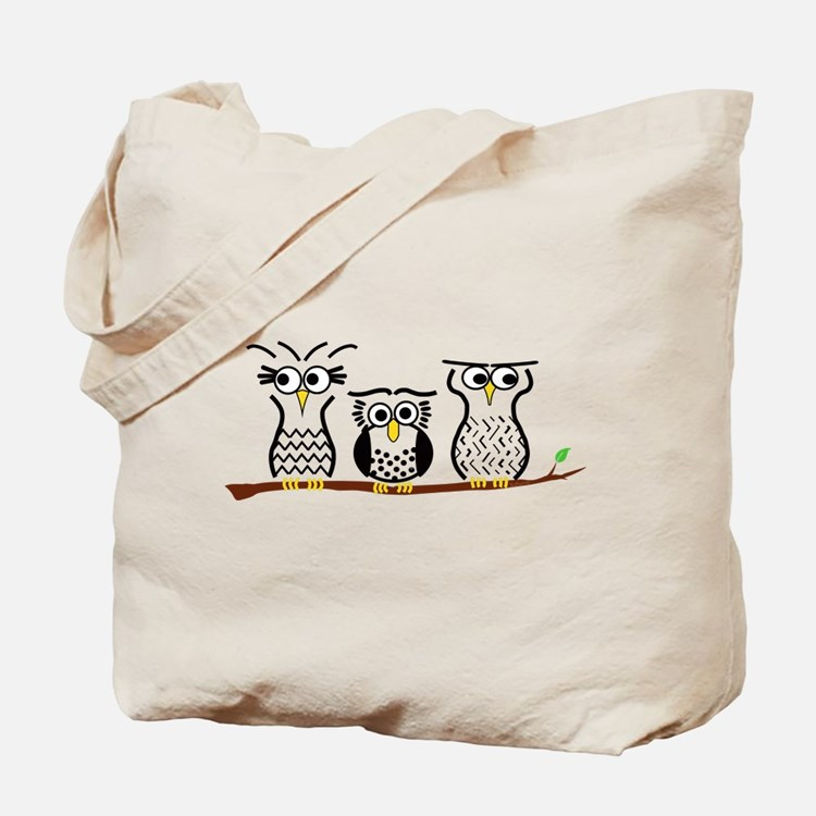 Three Little Owls Tote Bag