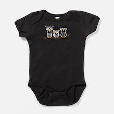 Three Little Owls Baby Bodysuit