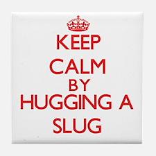 Keep calm by hugging a Slug Tile Coaster