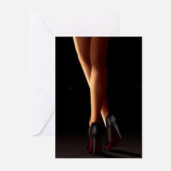 Legs on high heels Greeting Cards (Pk of 20)