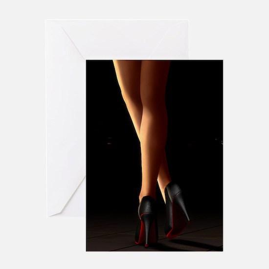 Legs on high heels Greeting Card