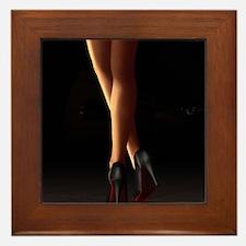 Legs on high heels Framed Tile