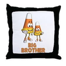 Candy Corn Big Brother Throw Pillow