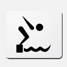 Swimming icon Mousepad