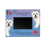 Dog pet highland terrier Picture Frames