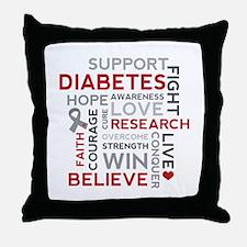 Support Diabetes Research Awareness Throw Pillow