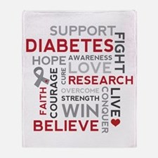 Support Diabetes Research Awareness Throw Blanket