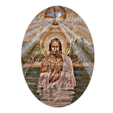 Jesus Quote II Oval Ornament