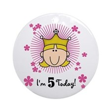 Princess 5th Birthday(blond) Ornament (Round)