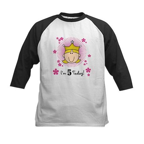 Princess 5th Birthday(blond) Kids Baseball Jersey