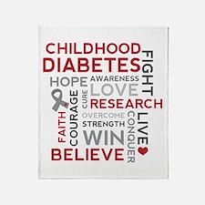 Childhood Diabetes Throw Blanket