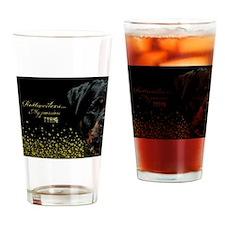 Classic Rottweiler Drinking Glass