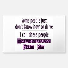 Bad Drivers (Purple) Decal