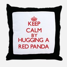 Keep calm by hugging a Red Panda Throw Pillow