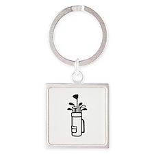 Golf bag Square Keychain