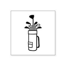 """Golf bag Square Sticker 3"""" x 3"""""""