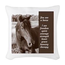 YSAH Woven Throw Pillow
