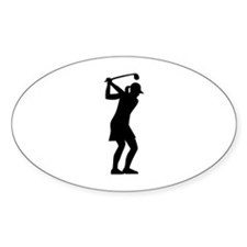 Golf woman Decal