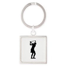 Golf woman Square Keychain